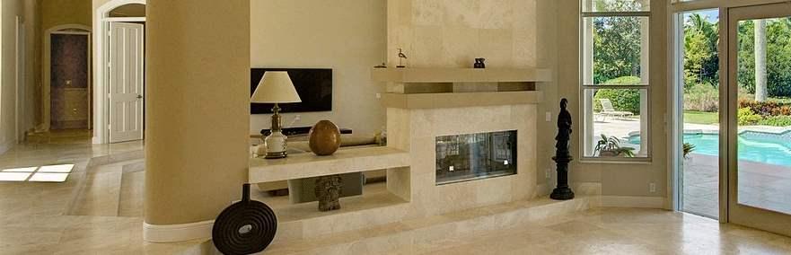 chimenea marmol